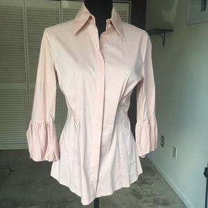 🏷 NWT*** BCBG puff sleeve button down shirt